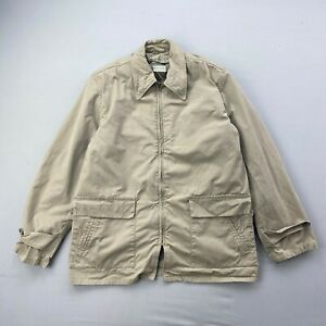 Vintage 60s Abercrombie & Fitch Beige Safari Jacket Mens 44 Long