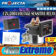 PROJECTA VSR200 12V 200AMP DUAL BATTERY SYSTEM ISOLATOR OVERRIDE FEATURE,12 VOLT