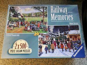 Ravensburger - Railway Memories  2 x 500 piece jigsaw puzzles