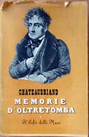 ✅1942 libro Chateaubriand MEMORIE D'OLTRETOMBA il sofà delle muse Rizzoli edito