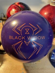 NEW 15LB HAMMER BLACK WIDOW PURPLE RARE OVERSEAS BOWLING BALL
