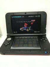Nintendo 3D XL Red Crimson /Black Handheld System + Mario Kart 7 NO CHARGER