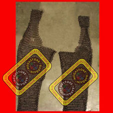 Medieval Flat Riveted w/ Flat Washer Chainmail Legging Chain mail Legs Leg