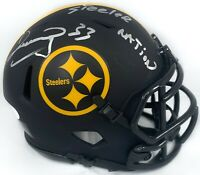 Merrill Hoge autographed signed inscribed Eclipse mini helmet Pitt Steelers JSA