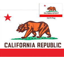 3x5Ft California State Flag 4 Rows Stitched 2 Sturdy Brass Grommets Usa