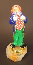 Vintage Ron Lee Clown with Hands on Lapel Leaning Back Signed 1999