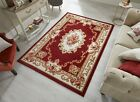 SINCERITY DYNASTY AUBUSSON PATTERN TRADITIONAL SMALL LARGE RUG RUNNER ROUND