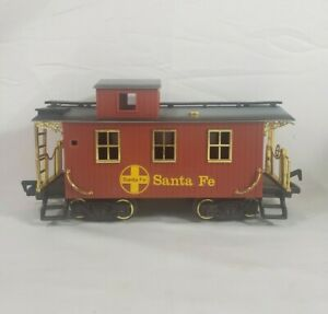 New Bright Pioneer Early American Railroad Train - Caboose Santa Fe from Set 180