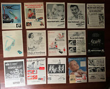 1950s Print ad lot of 15 Toothbrush Pepsodent Gleem Colgate Band aids