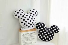More details for mickey edition pillow minnie mouse stuffed white polka-dot 20