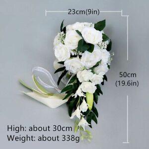 Waterfall Wedding Bouquet Bridesmaid Hand Tied Flower Decor Home Wedding Flowers
