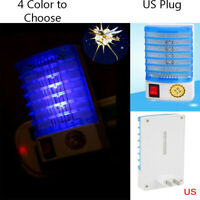 LED Electric Mosquito Fly Bug Insect Trap Killer Zapper Night Lamp Lights US