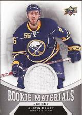 JUSTIN BAILEY 2016-17 Upper Deck Series 2 Rookie Materials Jersey RM-JB Buffalo