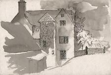 ROBERT KIRKLAND JAMIESON Watercolour Painting MANOR HOUSE c1930