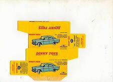 Boîte copie repro Dinky Toys 553 peugeot 404 berline ( reproduction box )