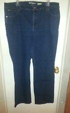 Style & Jeans Women Blue Boot Cut Size 18W ~ w/sparkle stitching & black gems