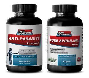 candida liver - ANTI-PARASITE – SPIRULINA COMBO 2B - papaya leaf extract liquid
