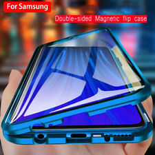 For Samsung S21 Ultra S20 A32 A72 360° Magnetic Tempered Glass Metal Case Cover