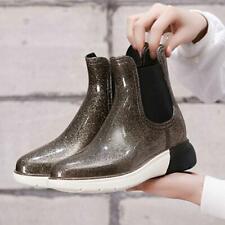 Rubber Shoes Women Rain Boots Waterproof PVC Winter Ankle Martins Rainboots Chic