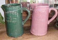 1 X Decorative Jug in Green OR Pink ONLY