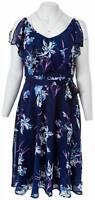 LANE BRYANT Flutter Floral Dress