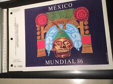 DIEGO MARADONA MONDIAL MEXICO FOOT FOOTBALL 86 1986 Document Timbre !