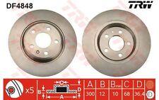 TRW Juego de 2 discos freno Trasero 300mm AUDI A4 A6 A5 Q5 A7 FAW-AUDI DF4848