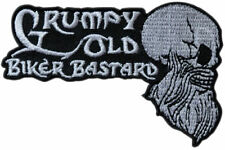 Biker Patch Grumpy Old Biker Funny Iron-on motorcycle patch