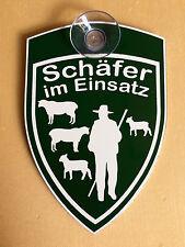 SCHÄFER IM EINSATZ - EINSATZSCHILD MIT SAUGNAPF - SCHAFE - LAMM - LÄMMER - NEU