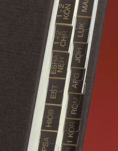 Bibel-Griffregister für alle Ausgaben ohne Apogryphen (gold auf schwarz)