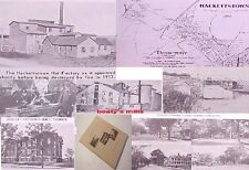 HACKETTSTOWN NJ history map morris canal School Church Saw Silk Mill Streets war