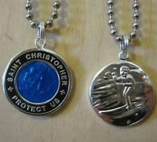Saint Christopher Surf Medal Protector of Travel rb-bk Royal Blue-Black Medium