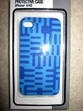 Protective Case for iPhone 4/4S Blue Pattern
