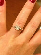 1 Carat Princess Cut Diamond Solitaire Engagement Ring 14K Paid $5000
