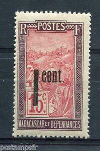 MADAGASCAR 1921 timbre 125a, variété SURCHARGE DEPLACEE, neuf**