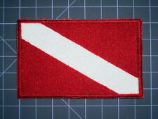 Diver Down Flag Embroidered Patch, Scuba, Snorkeling