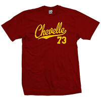Chevelle 73 Script Tail Shirt - 1973 Classic Muscle Race Car - All Size & Colors