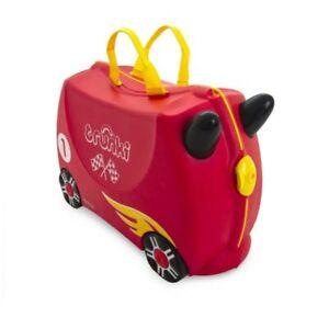 * NEW * Trunki ROCCO RACE CAR Ride on Kid's Suitcase PLUS Race Car Stickers