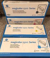 Konica Minolta Magicolor 2300 Toner Cartridge Set Yellow Cyan Black Magenta NEW