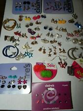 Earring Lot 80 Pairs Teens Childrens Bulk Misc Claires Justice Unbranded Pierced