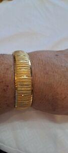 Vintage Milor Italy Gold Vermeil Over .925 Sterling Silver Flexible Bracelet