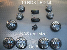 RDX LED Clair 10 lumières / grand côté arrière répéteurs Defender 1998-2016 raffinée / tdci d