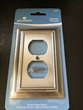 BRAINERD ARCHITECTURAL SINGLE DUPLEX NICKEL OUTLET PLATE 64234 FREE SHIPPING