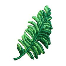 ID 7181 Tropical Fern Plant Branch Bough Embroidered Iron On Applique Patch