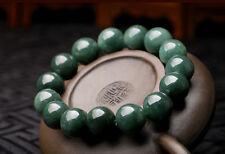 15mm Perfect Chinese 100% A Grade Natural Jade/ Jadeite Bean Beads Bracelet