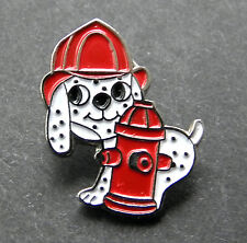 FIREFIGHTER DOG DALMATIAN FIREHOUSE CUTE FIRE HYDRANT PIN 3/4 INCH