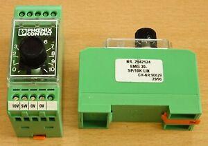 2 PHOENIX CONTACT Potentiometer EMG 30-SP/10K LIN Sollwertgeber Regler