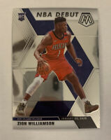 2019-20 Mosaic Zion Williamson NBA Debut Rookie Card RC #269 Pelicans