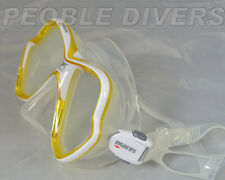 Mares 14 X-vision Yellow Mask Low Volume Scuba mask great price..Last one