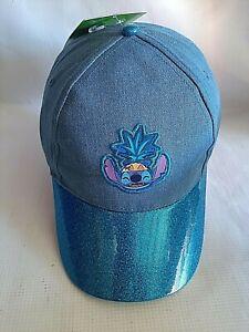 New Disney Lilo & Stitch BallCap Stitch Hat Adjustable Snapback Size Youth/Teens